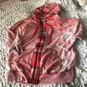 Rosy burnout hoodie